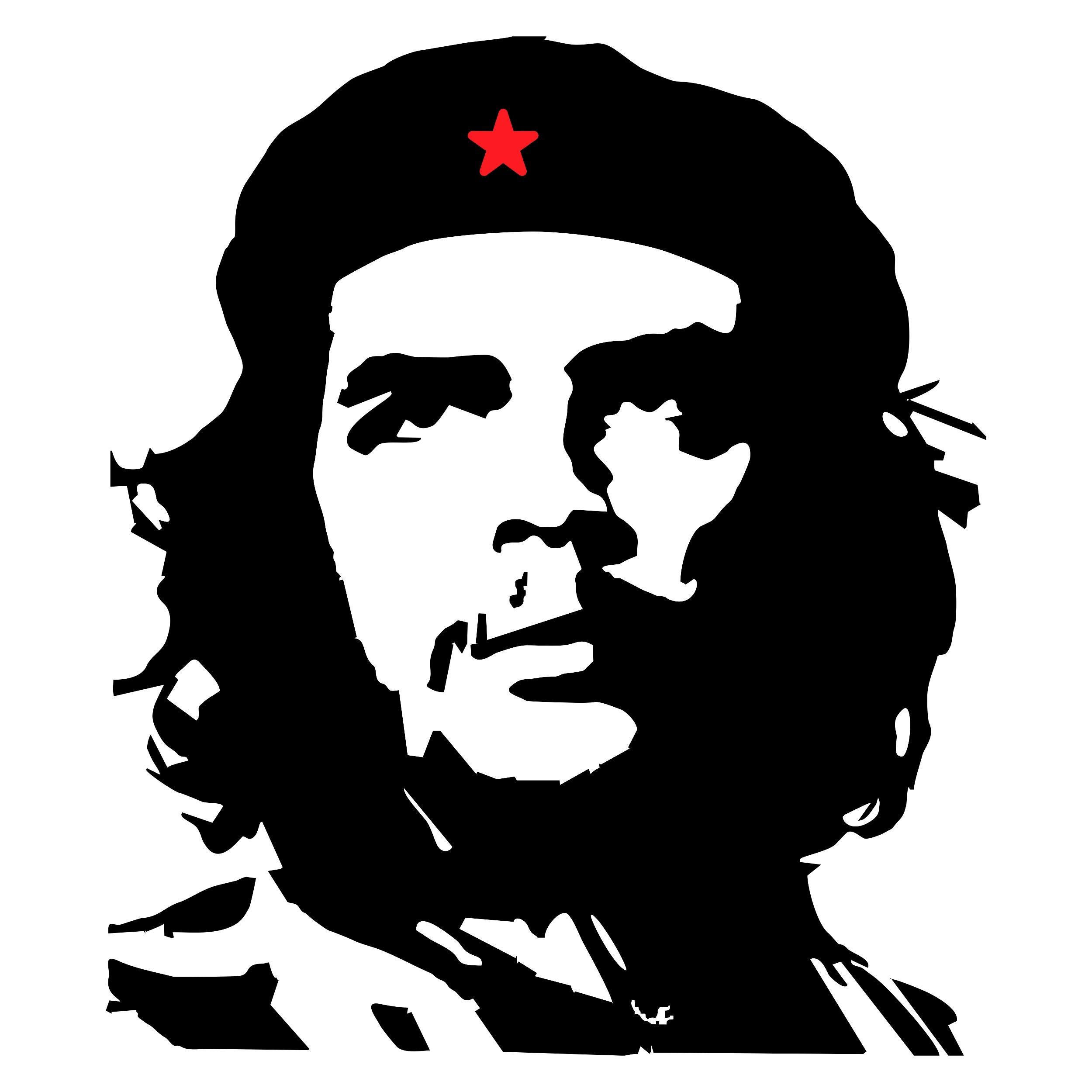 Aufkleber Che Guevara Kontur 135 X 110 Mm Schneller Versand Innerhalb 24 Stunden