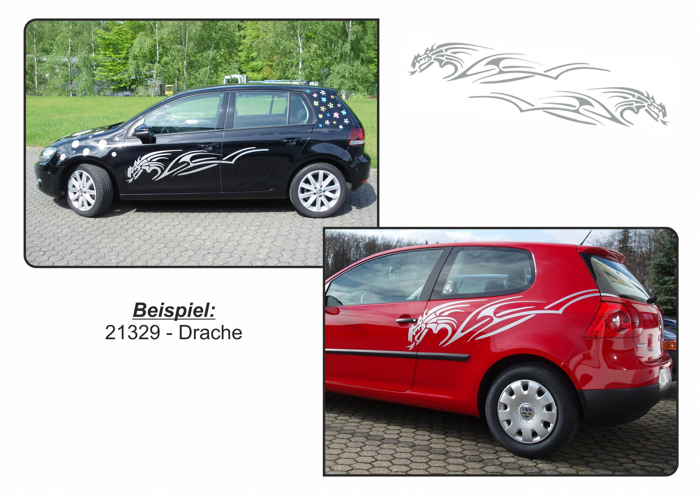 Tatou voiture tigerdragon noir car styling tatous pour for Fenetre voiture