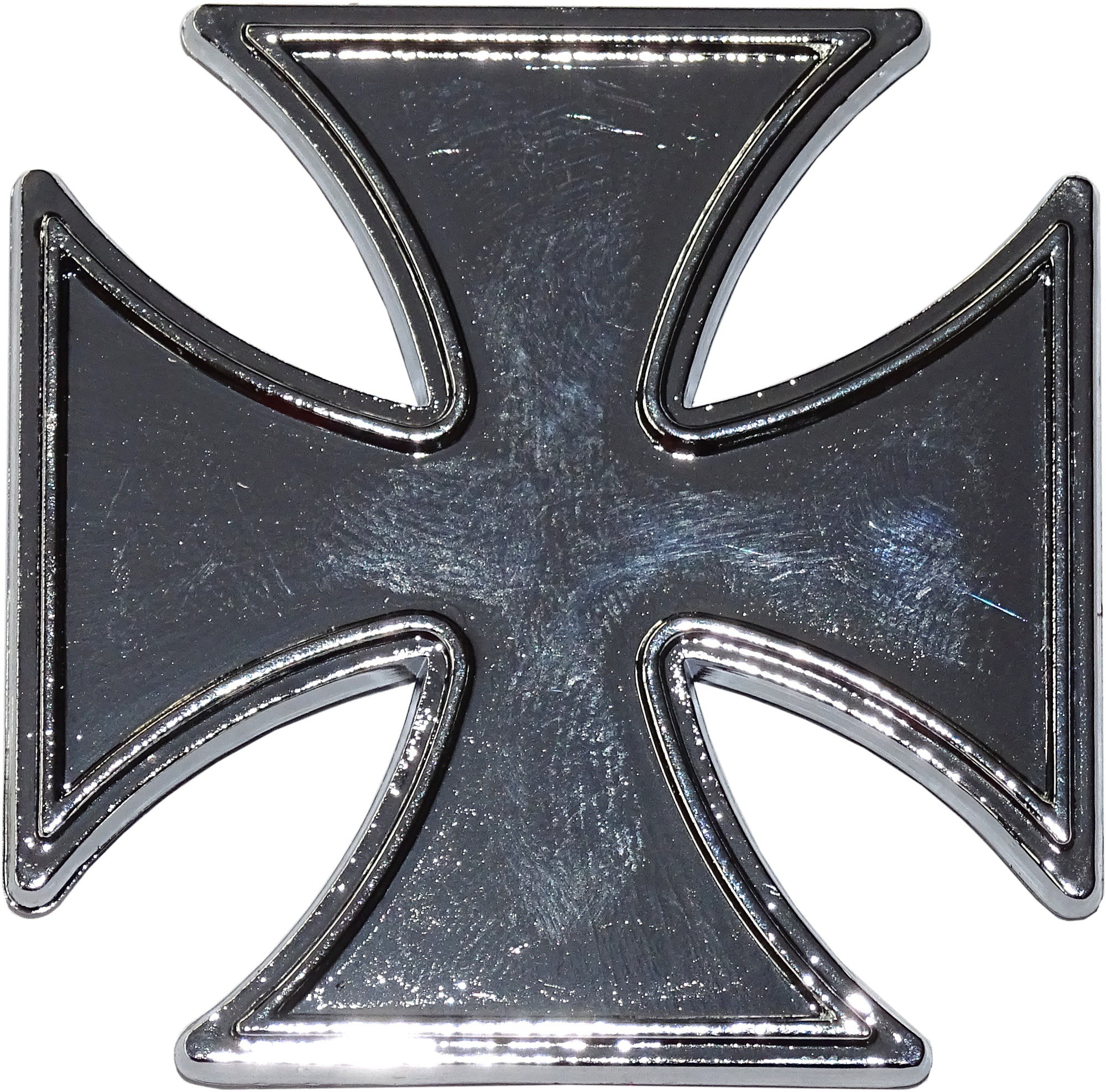 Relief-Chrome-Tattoo Iron Cross