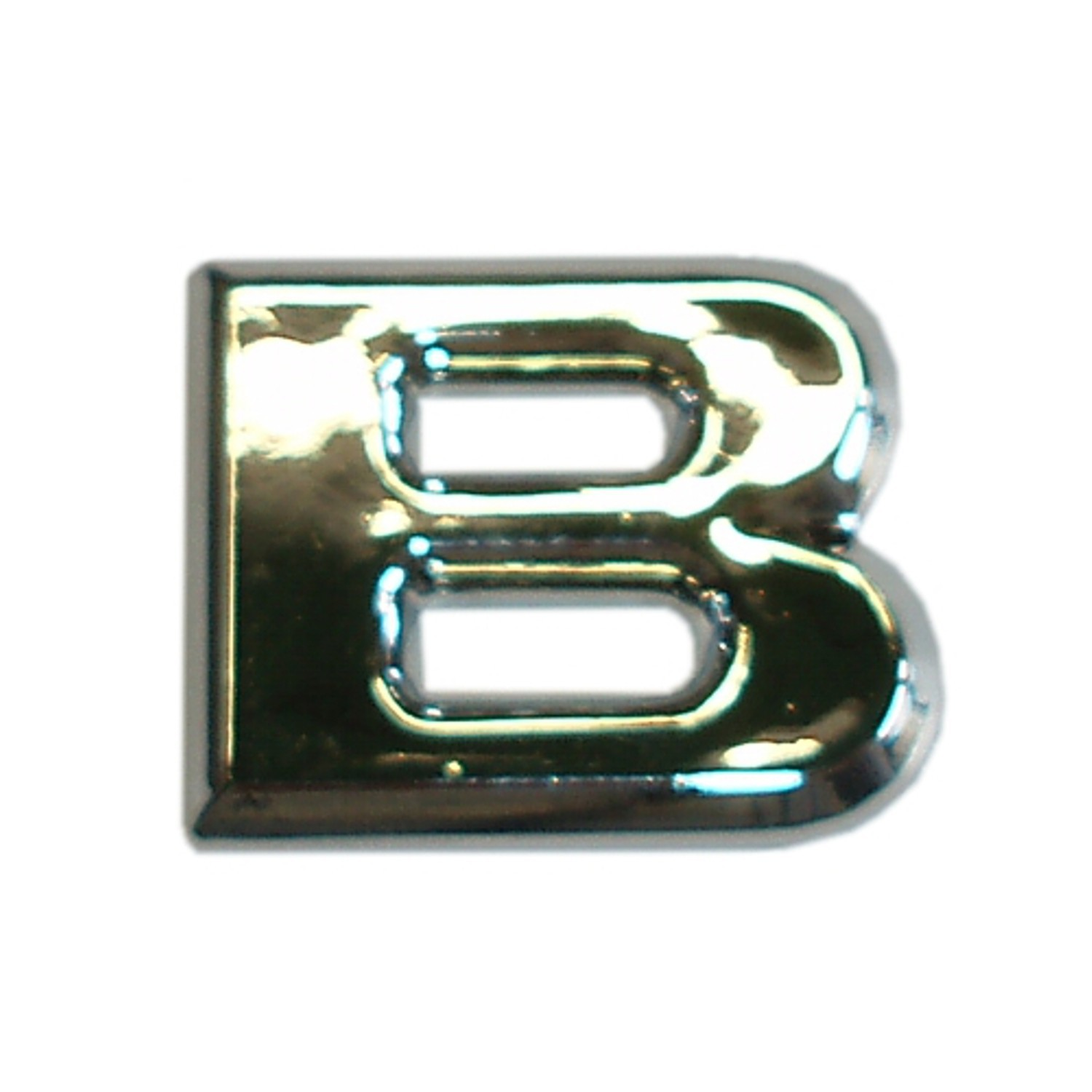 3D-Relief-Chrome-Buchstabe B