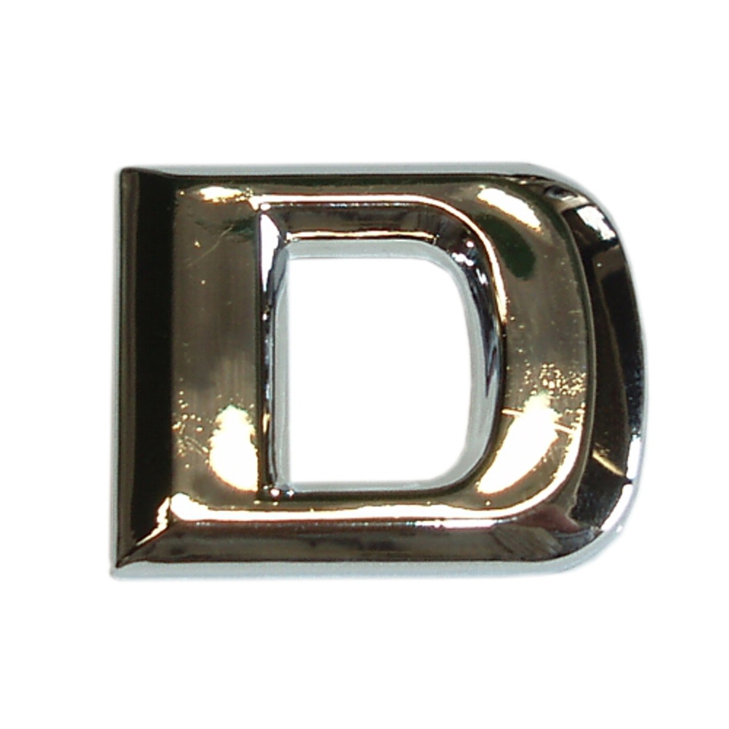 3D-Relief-Chrome-Buchstabe D