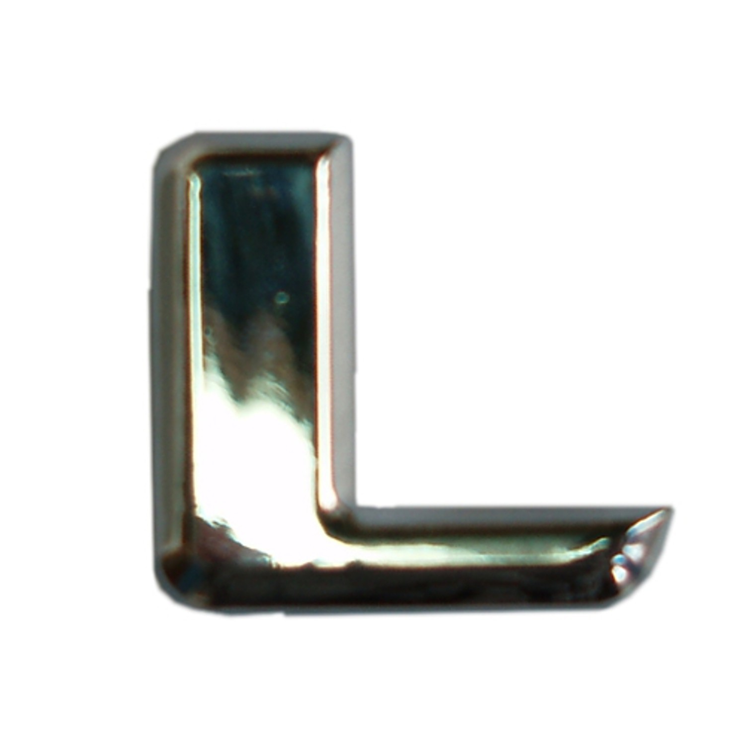 3D-Relief-Chrome-Buchstabe L