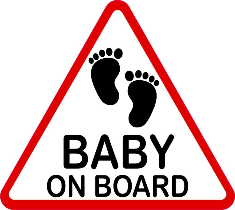 aufkleber baby an bord reflektierend dreieckig 120 x 135. Black Bedroom Furniture Sets. Home Design Ideas