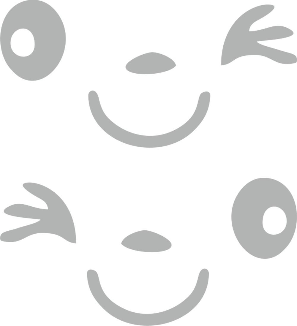 Aufkleber spiegel und car tattoo happy face for Spiegel aufkleber