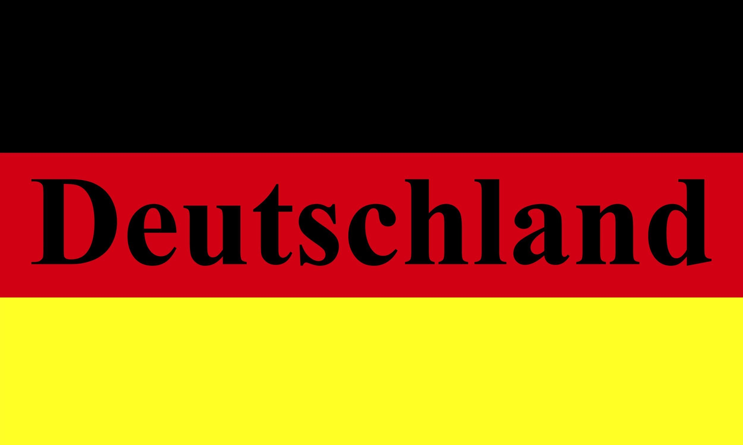 aufkleber deutschland flagge mit schriftzug neon 60 x 100 mm deutschland fanartikel olympia. Black Bedroom Furniture Sets. Home Design Ideas