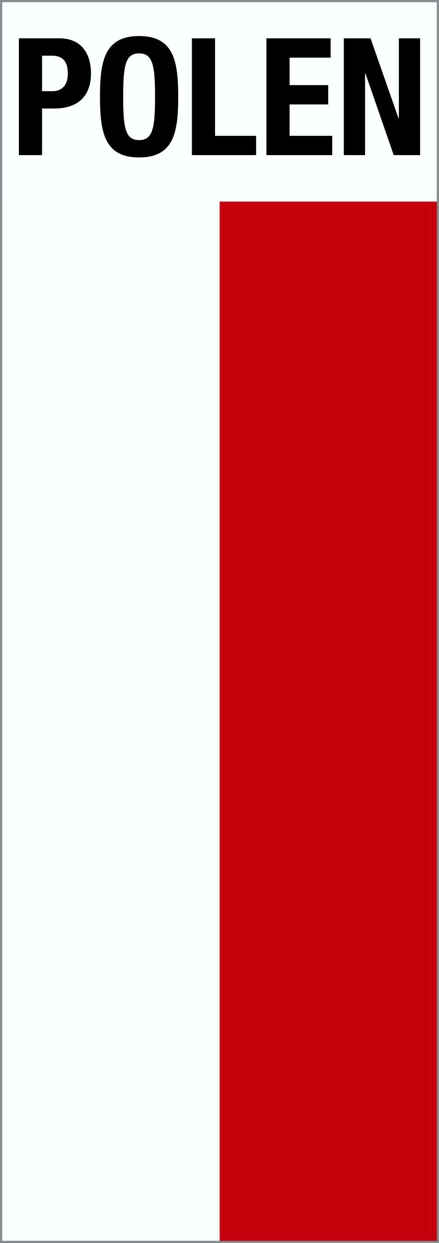 Handicap Accessories For Cars Sticker flag with writing Poland 110 x 40 mm Stickers Nationalities ...
