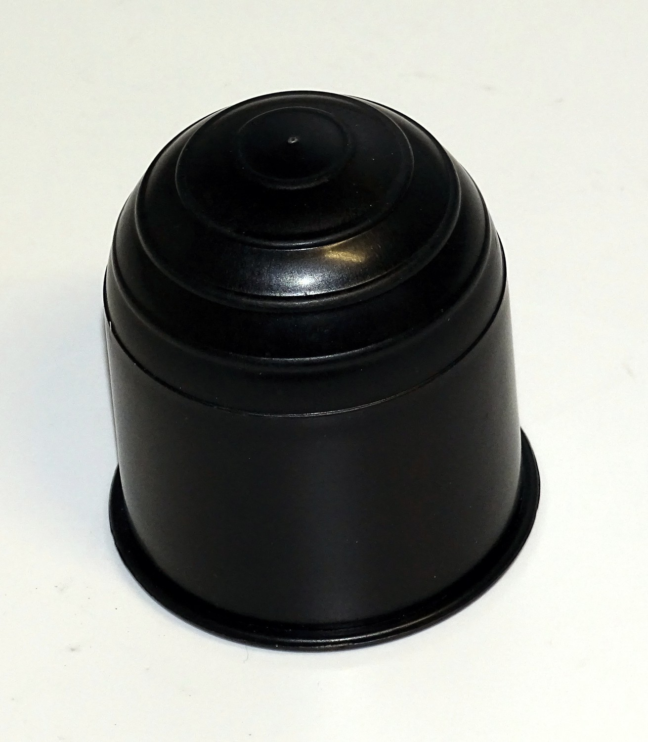 Ball coupling protection cap black of plastic accessories
